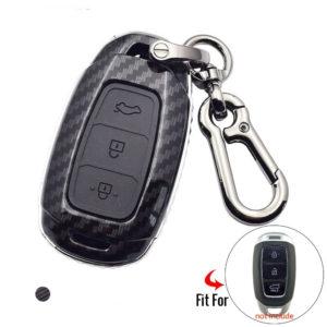 Ốp chìa khóa cacbon xe Hyundai Kona