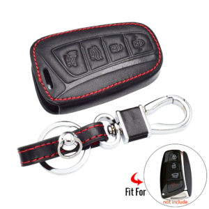 Bao da chìa khóa Hyundai Santafe chìa từ 4 nút