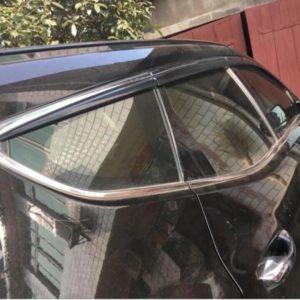 Vè mưa mạ 6 chi tiết Hyundai Santafe cao cấp
