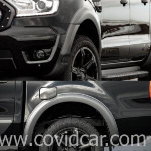 Ốp cua lốp trơn đen mờ Ford Ranger Bi Turbo cao cấp